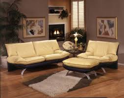Leather Living Room Furniture Sets 287 Leather Living Room Set In Cream Free Shipping Get Furniture