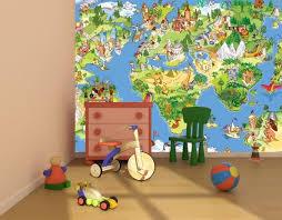 kids map of the world wallpaper murals by homewallmurals