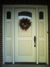 painted wood entrance door