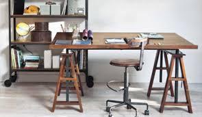 bureau sur planche de bois pour bureau survl com
