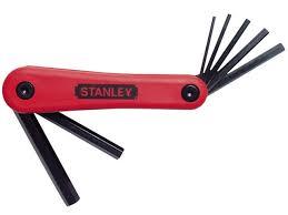 stanley sta469262 folding hex key set 7pc metric 4 69 262