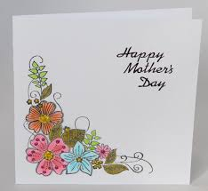 a handmade card with flowers for mother u0027s day handmade by helen