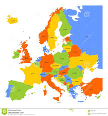 The Map Of Europe by Colorful Map Of Europe Stock Vector Image 65421764