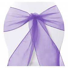 Purple Chair Sashes Shop Organza Chair Sashes Wedding Organza Chair Sashes Luna