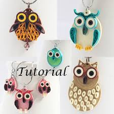 paper quilling birds tutorial tutorial for paper quilled owl jewelry pdf by honeysquilling on zibbet