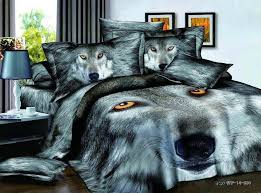 Wolf Bedding Set Aliexpress Buy Modern Animal Wolf Print 100 Cotton Textile