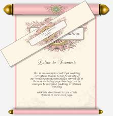 indian wedding scroll invitations pastel pink scroll email wedding invitation with baroque frames