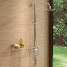 round or square twin head thermostatic shower mixer chrome round or square twin head thermostatic shower mixer
