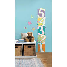 2 5 in x 27 in patterned numbers growth chart peel and stick