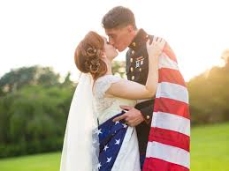 real wedding military tribute from diy to dress blues