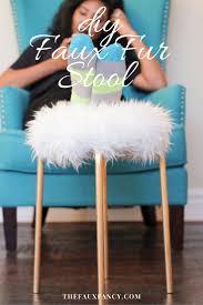 diy faux fur stool u2014 the faux fancy