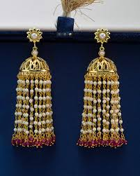 jhumka earrings online buy alluring surat tassel jhumka earrings online india voylla
