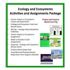 ecology and ecosystems activities and assessments package educents