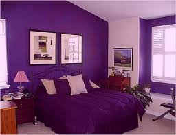 purple color for living room to create an attractive guest by