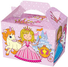 childrens party boxes bags gift birthday loot food princess pirate