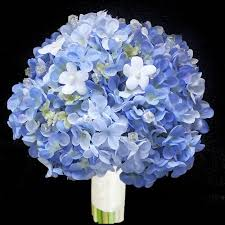 hydrangea bouquet blue hydrangeas bouquet lilies of the valley and stephanotis