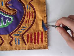 Textile Arts Now Tutorial 02 How To Make A Mola Mola Tutorial Mola Course Mola Mola