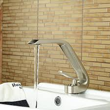 Single Hole Bathroom Sink Faucets Style Single Handle One Hole Nickel Brushed Bathroom Sink Faucet