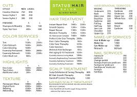 Makeup Hair Salon Have Your Hair Done At Status Hair Salon And Be A Part Of Their