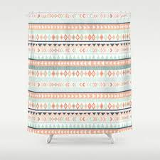 Navy And Coral Shower Curtain Best Coral Shower Curtain Products On Wanelo