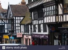 tudor house henry tudor house and half timbered buildings in wyle cop stock