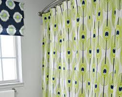 fabric shower curtain etsy