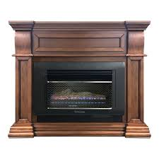 mini hearth space heater with log and mantel surround toasted