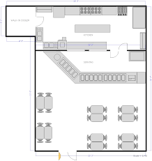 restaurant kitchen with counter seating floor plan urbana