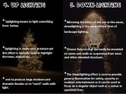 different types of outdoor lighting lighting