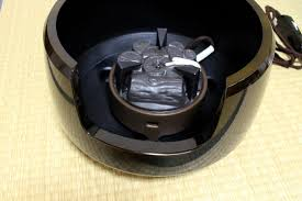 electric charcoal heater japanese tea ceremony black pottery