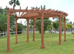 pergola small curved wooden pergola design for corner space plus