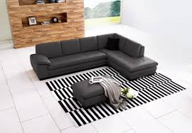 Grey Check Sofa 625 Italian Leather Sectional Right Arm Chaise Facing Gray Buy