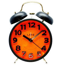 buy leni rainbow bell alarm clock orange 15cm online oh clocks