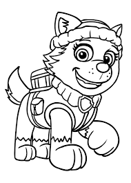 everest paw patrol coloring