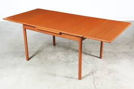 danish modern teak draw leaf dining table vintage supply store
