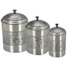 metal canisters kitchen kitchen canisters for less overstock