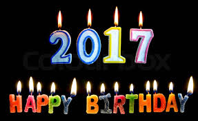 happy birthday candle colourful of 2017 happy birthday candle with lighting on the