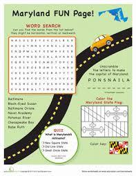 maryland fun facts worksheet education com