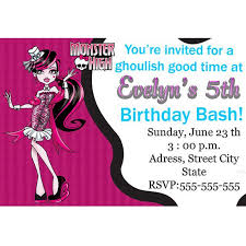 template monster high birthday invitations with monster high