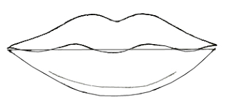 how to draw human lips draw step by step