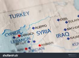 Syria On World Map by Closeup Aleppo Syria On Political Map Stock Photo 365702177