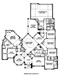 interesting floor plans u shaped home with unique floor plan hwbdo64049 3 most interesting