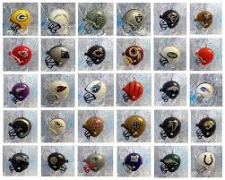 nfl football ornament set of 32 mini helmet