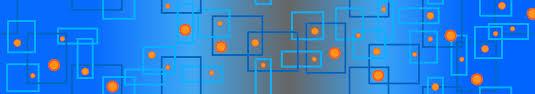 blue and orange boxes circles social media header banner cover