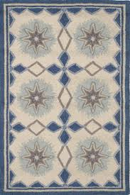 navy wool micro hooked rug dash albert
