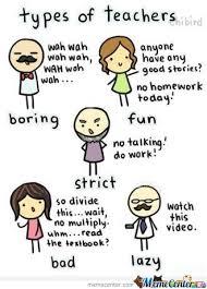 Meme Types - types of teachers by serkan meme center
