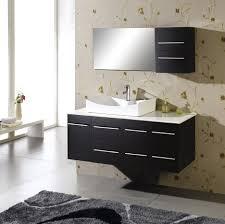 Floating Bathroom Vanity by Bathroom Modern Black Wooden Floating Bathroom Vanity With Single
