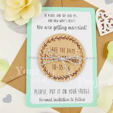 custom save the dates save the date magnet wreath save the date wood save the