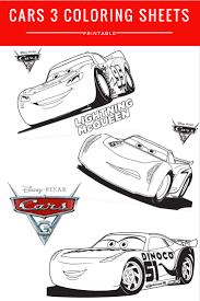 disney pixar cars 3 coloring sheets free printable mommadjane