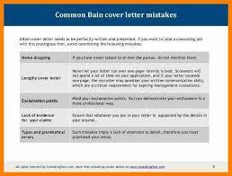 bain cover letter bain cover letter sample bain cover letter